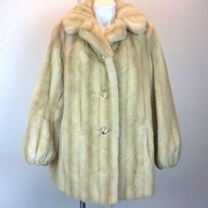 Vintage Tissavel of France blonde faux fur coat